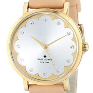Kate Spade Metro Watch with Beige Leather Band